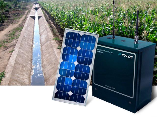 Medidor autónomo de nivel con panel solar